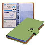 Tenn Well Business Card Organizer, PU Leather Card Book Holder with Magnetic Closure for Organizing Business Cards, Credit Cards, Gift Cards (Hold 300 Cards)