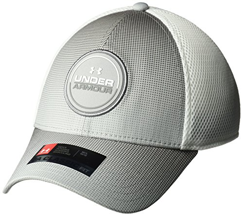 Under Armour Mesh Visor - Under Armour Men's Eagle 2.0 Cap, Overcast Gray (942)/White, Large/X-Large
