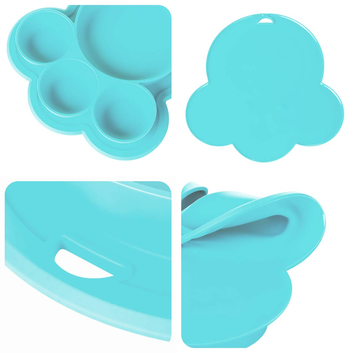 Silicone Baby Toddler Divided Plate BPA Free Microwave Dishwasher Safe