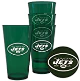 New York Jets Plastic Pint Glass Set