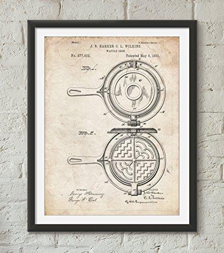 Waffle Iron Patent Poster