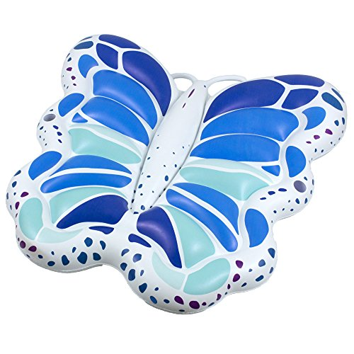 Swimline Giant Butterfly Lounge Island Swimming Pool Toy, 1 Pack: Blue/Green -  90458
