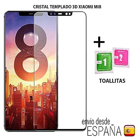 Cristal templado 3D 5D Xiaomi Mi8 Protector de Pantalla, Cristal Vidrio Templado Glass Premium [
