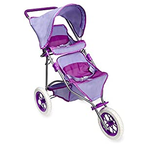Amazon.com: You & Me Twin Doll Jogger Stroller: Toys & Games