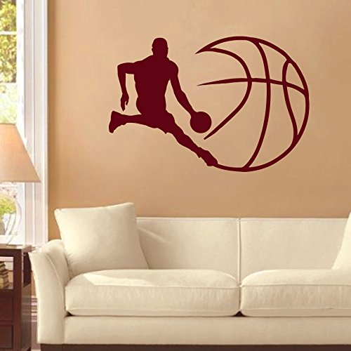 Adhesivos Deportes Bola de jugador de baloncesto juego de equipo ...