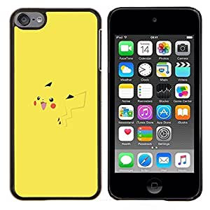 EJOOY---Cubierta de la caja de protección para la piel dura ** Apple iPod Touch 6 6th Touch6 ** --P1Kachu P0kemon