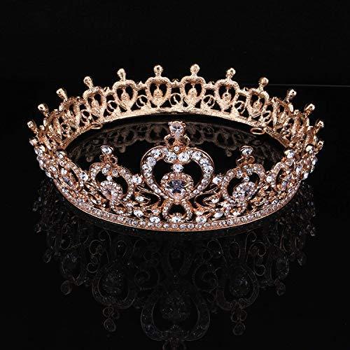 Wedding Crown, Beautiful headdress/Queen'S Baroque Crown Decorations Luxurious Zircon Bridal Crown Court Wedding Accessories by Junson (Image #2)