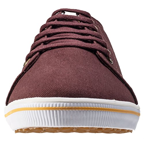 Fred Perry Sneaker Hombre Kingston Twill LonaHenna Burdeos Burnt Henna