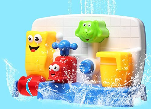 Funny Bath Toys for Boys and Girls with Water Sprinkler System -Early Education Interactive Bathroom Toys by Cherry (Image #6)