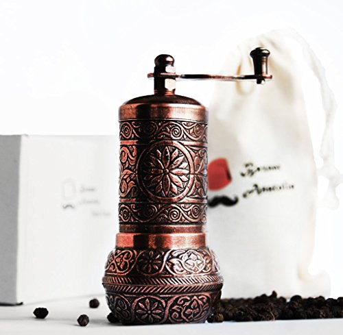 Turkish Grinder, Seasoning Grinder, Salt Grinder, Pepper Mill 4.2'' (Antique Copper)