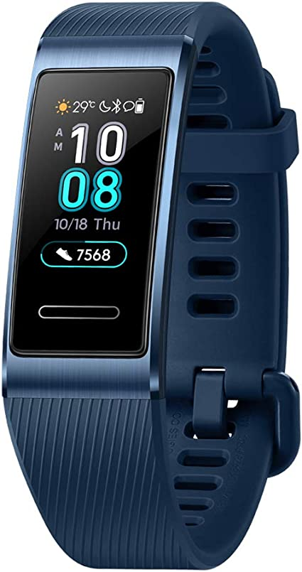 HUAWEI Band 3 Pro All-in-One Fitness Activity Tracker, 5ATM Water Resistance for Swim, 24/7 Heart Rate Monitor, Built-in GPS, Multi-Sports Mode, Sleep ...
