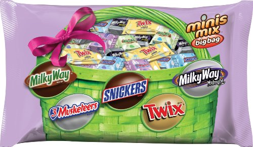 Mars Chocolate Minis Mix Chocolates for Spring Big Bag, 17.5 Ounce (Pack of 12)