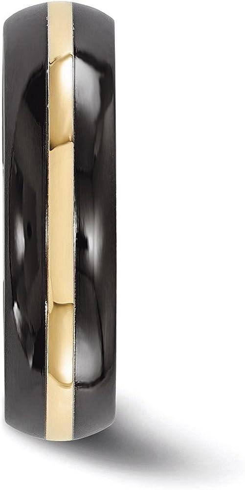 Edward Mirell Black Ti and 14K Domed 6mm Band