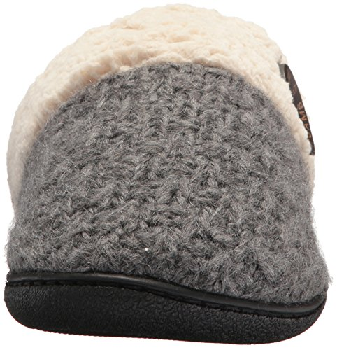 Heather Scuff Textured Toe Grey Knit Closed Women's Dearfoams Dark 5wxCqX0na