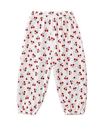 Mini honey Toddler Kids Cute Baby Boy Girl Casual Eelastic Harem Bloomers Cute Summer Pant - Red - 12-18 Months
