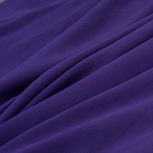 HOMEYEE - Vestido - corte imperio - para mujer morado