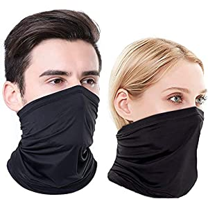Neck Gaiter Face Cover Scarf Gator Face Mask for Cold Wind Dust – Reusable Balaclava Bandana for Men Women – 12 Ways to…
