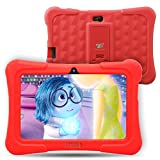 Dragon Touch Y88X Plus 7 inch Kids Tablet Disney Edition, Quad Core CPU, Android 5.1 Lollipop, IPS Display, Kidoz Pre-Installed w/ Bonus Disney Content (more than $60 Value)-Red