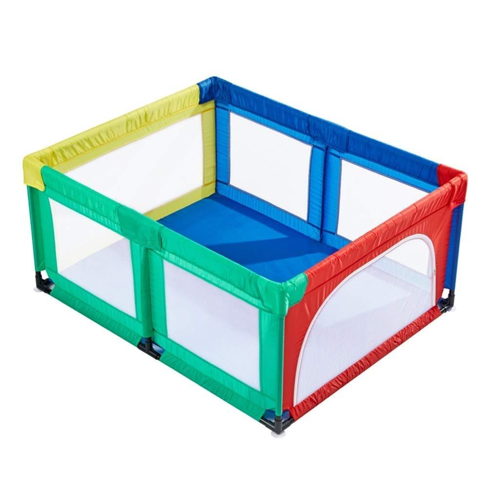 Laufgitter Extra hoher 27,5  Baby Laufstall Multicolor mit T/ür gr/ö/ße : 120x150x70cm Tragbarer Kindersicherheitszaun f/ür den Innenbereich