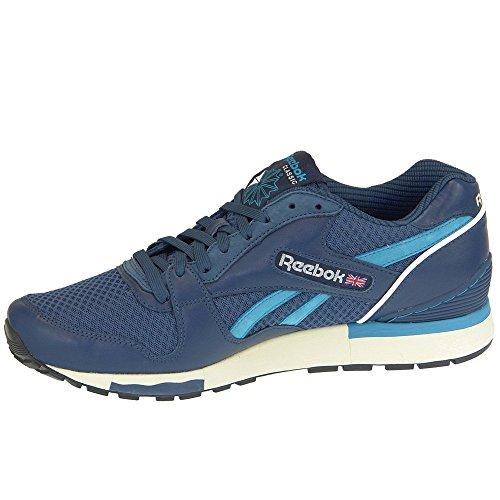 Reebok - GL 6000 Tech - Color: Azul-Azul marino - Size: 44.0