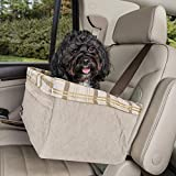 PetSafe Happy Ride Quilted Booster Seat - Dog Booster Seat for Cars, Trucks and SUVs - Easy to Adjust Strap - Durable Padded Liner is Machine Washable and Easy to Clean - X-Large
