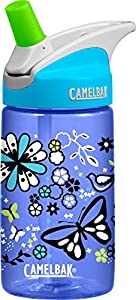 CamelBak Kids Eddy Water Bottle, Flower Field, 0.4 L