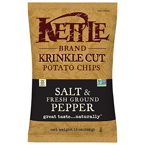 Kettle Brand Potato Chips, Krinkle Cut Salt and Pepper, 13 Ounce Bags (Pack of (Krinkle Cut Potato Chips)