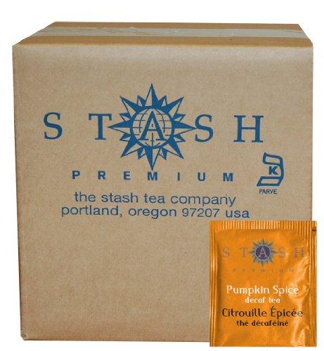 Stash Tea Decaf Pumpkin Spice Black Tea, 100 Count Box of Tea Bags in (Pumpkin Gift)