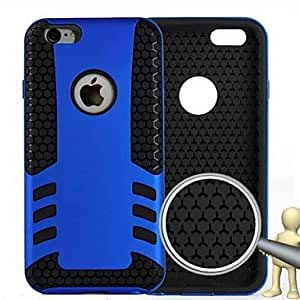 SOL The Rockets Fall Prevention Design Appearance PC and Silicone Full Body Case for iPhone 6 Plus (Assorted Colors) , Black