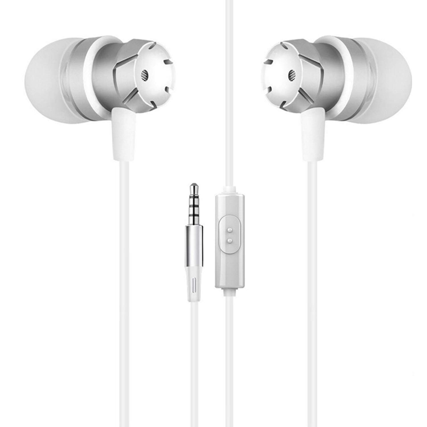 in-Ear Earphones, 3.5mm Wired Metal Earbuds, in Ear Headphones with Mic and Case Bass Stereo Noise Isolating Ear Buds for Gym
