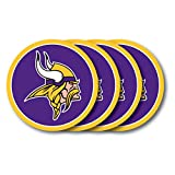 Duck House NFL Minnesota Vikings Vinyl Coaster Set (Pack of 4)