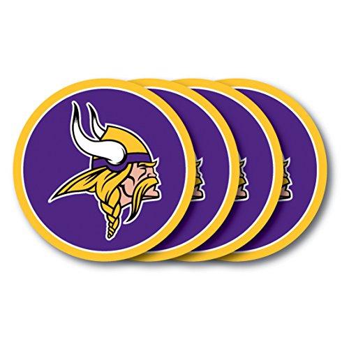 - NFL Minnesota Vikings Vinyl Coaster Set (Pack of 4)