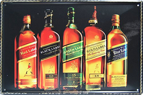 johnnie-walker-whiskey-metal-tin-sign-vintage-style-wall-ornament-coffee-bar-decor-size-8-x-12