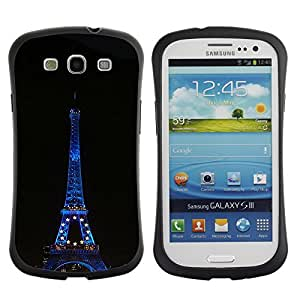 LASTONE PHONE CASE / Suave Silicona Caso Carcasa de Caucho Funda para Samsung Galaxy S3 I9300 / Architecture Eiffel Tower At Night