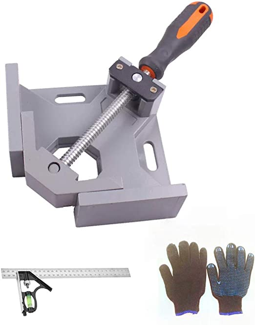 Welding Kitt 90 Degree Corner Clamp for Woodworking Photo Framing 90/° Right Angle Clamps Tools Carpenter Engineering Adjustable Vise Face Frame Clamp for Wood-Working