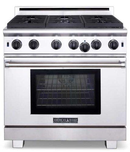 American Range Arr636n Cuisine Series 36 Sealed Burner All Gas Range Stainless Steel