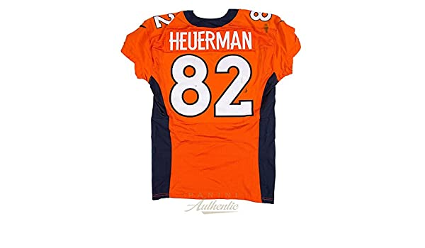 new style b9184 f44a3 Jeff Heuerman Game Worn Denver Broncos Jersey From 10/9/2016 ...