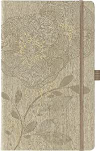 Cangini Filippi 112/305338 Ivory Gardena Natur - Libreta de notas (tamaño DIN A5, cuadriculada, 240 páginas), color beige