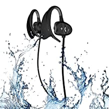 Waterproof Sports Bluetooth Wireless Headset Headphones Earphone for iPhone Android Phones and other Cellphones Super Fashion New Style Shark BH802 (Black)