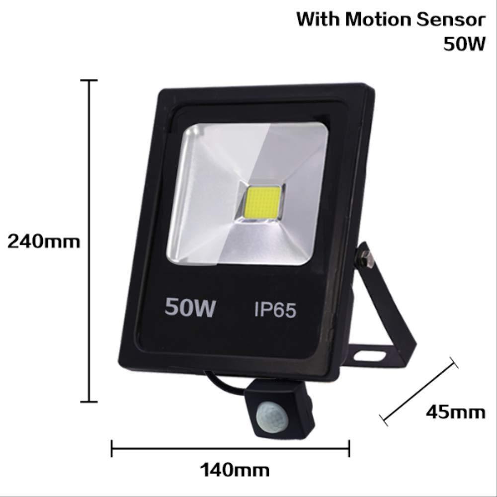 El sensor de movimiento llevó la luz de inundación 10w 30w 50w ...