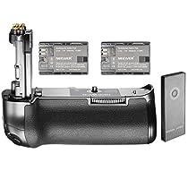 Neewer Impugnatura Portabatteria NW-5D Mark IV & 2,4G Wireless Telecomando per Canon BG-E20 & 2 Batterie Sostitutive 2000mAh per LP-E6, Compatibili con Fotocamera DSLR Canon EOS 5D Mark IV