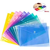 12 Pack Document Folder Copy Safe Project Pocket US Letter/A4 Size in 6 Colors, with 140 Pcss Colorful Note Pad as Free Gift