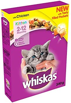 Whiskas Junior Dry Food For Kittens 2 12 Months With Chicken 340g Amazon Co Uk Pet Supplies