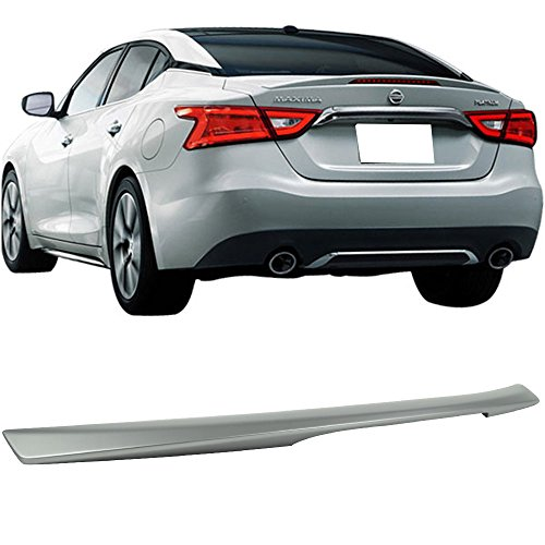 (Pre-painted Trunk Spoiler Fits 2016-2018 Nissan Maxima | Factory Style ABS Painted Brilliant Silver Metallic # K23 Rear Tail Lip Deck Boot Wing By IKON MOTORSPORTS)