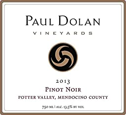2013 Paul Dolan Vineyards Pinot Noir Mendocino County Potter Valley 750 mL Wine