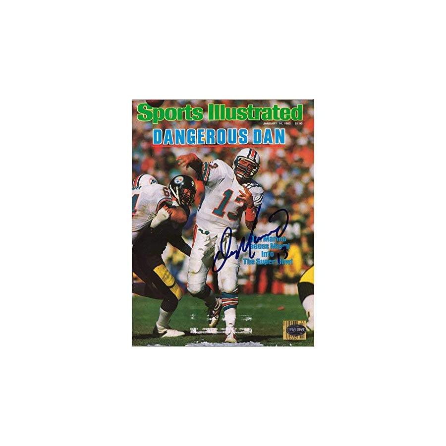 Dan Marino Miami Dolphins Autographed Dangerous Man Sports Illustrated Magazine PSA/DNA Certified Autographed NFL Magazines