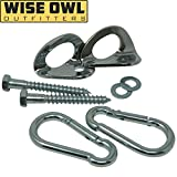 Wise Owl Outfitters Hammock Hanging Kit Heavy Duty Hardware Hooks Indoor Outdoor Hang - Tree Wall Mount Works All Hammocks Perfect Camping Hook Accessories Your Hammocks