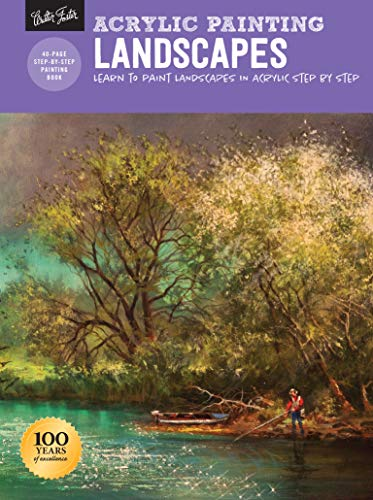 Acrylic Painting: Landscapes: Learn to paint landscapes in acrylic step by step (How to Draw & Paint) (Easy Acrylic Painting Ideas For Beginners On Canvas)