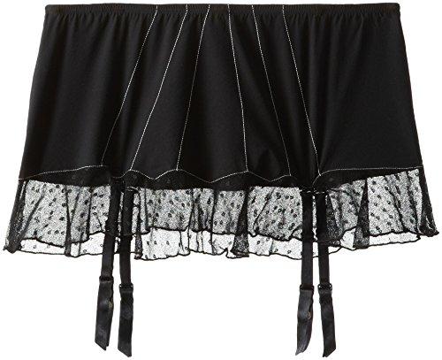 Felina Women's Marielle Skirt with Removeable Garter, Black, Small (Felina Garter)