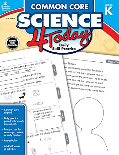 Common Core Science 4 Today, Grade K: Daily Skill Practice (Common Core 4 Today)